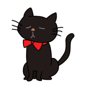 黒猫のタマ